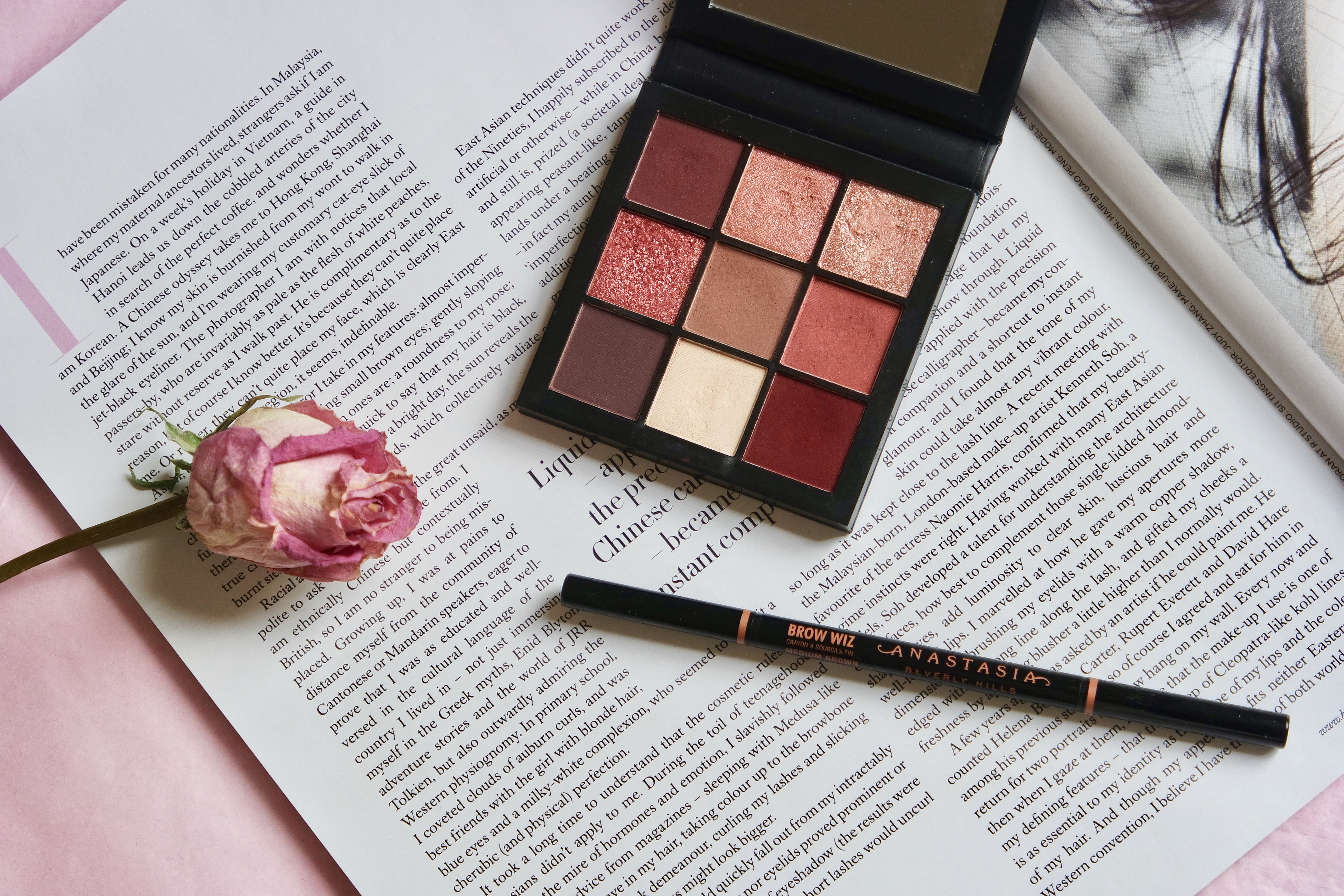 Huda beauty mauve obsessions; Anastasia Beverly Hills Brow Wiz