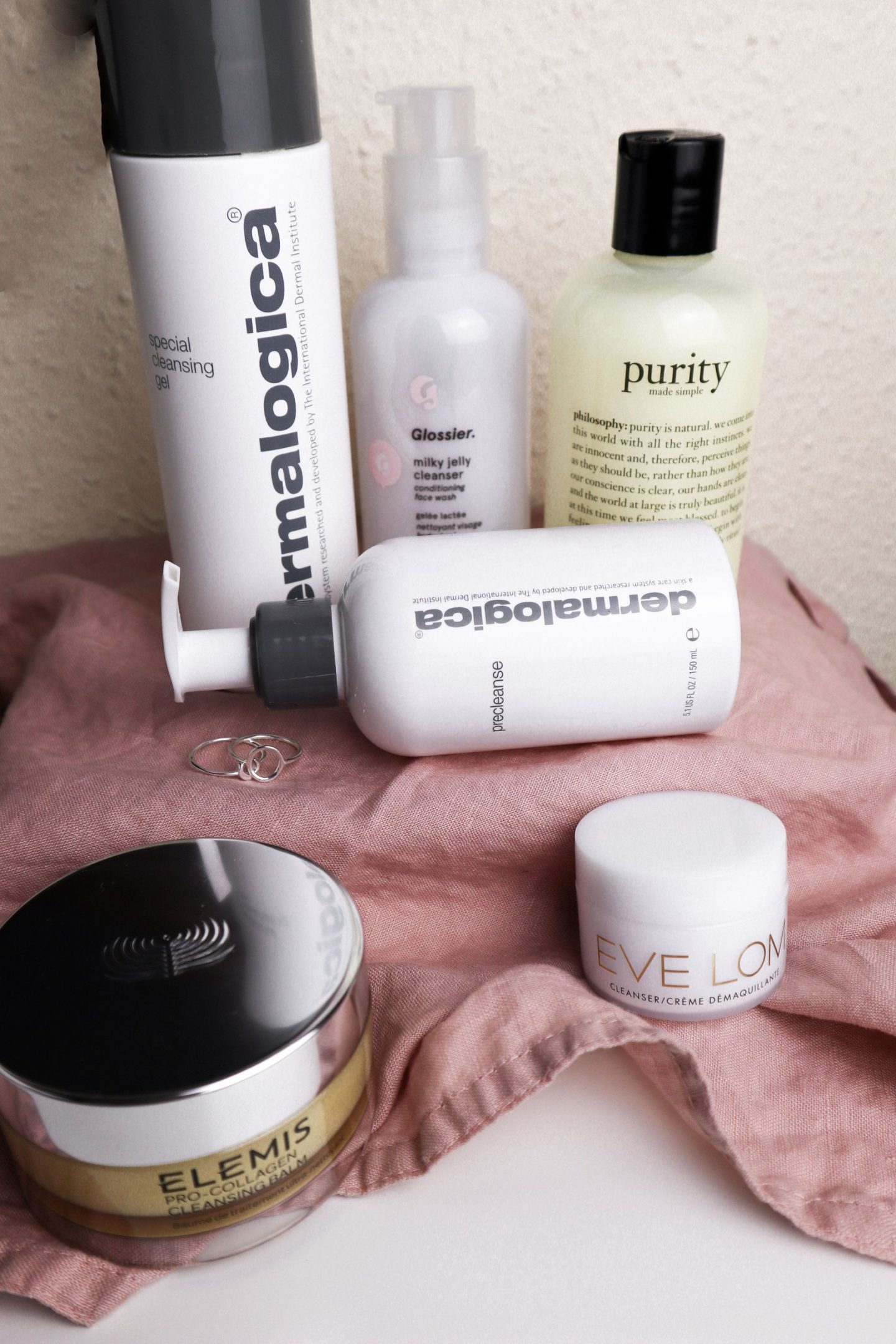 Why you need to double cleanse - dermalogica, glossier, eve lom, philosophy and elemis products