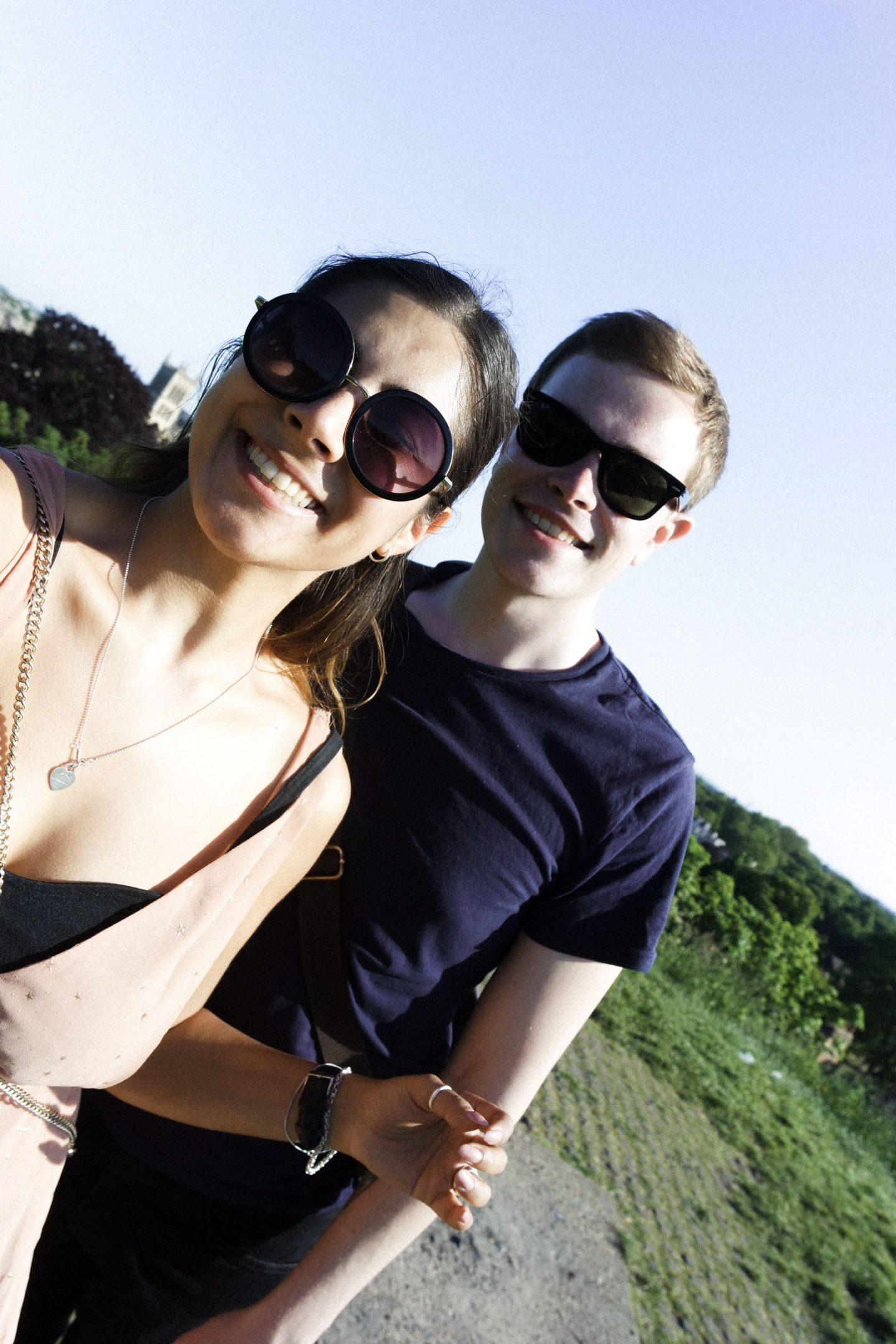 Selfie girl and boy in Cambridge