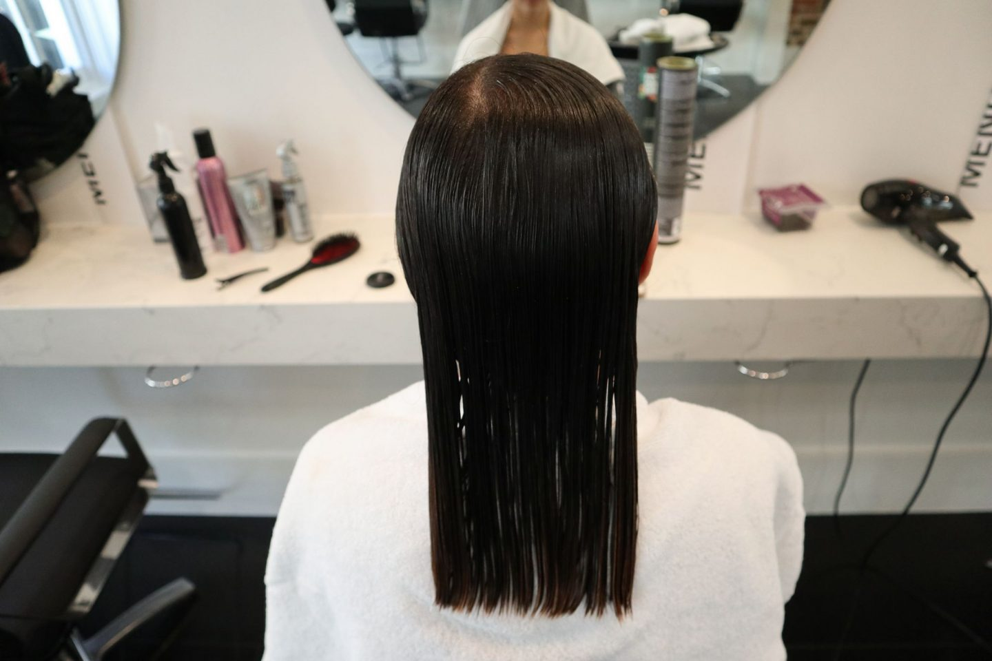Braliz Hair Straightening Treatment, product applied