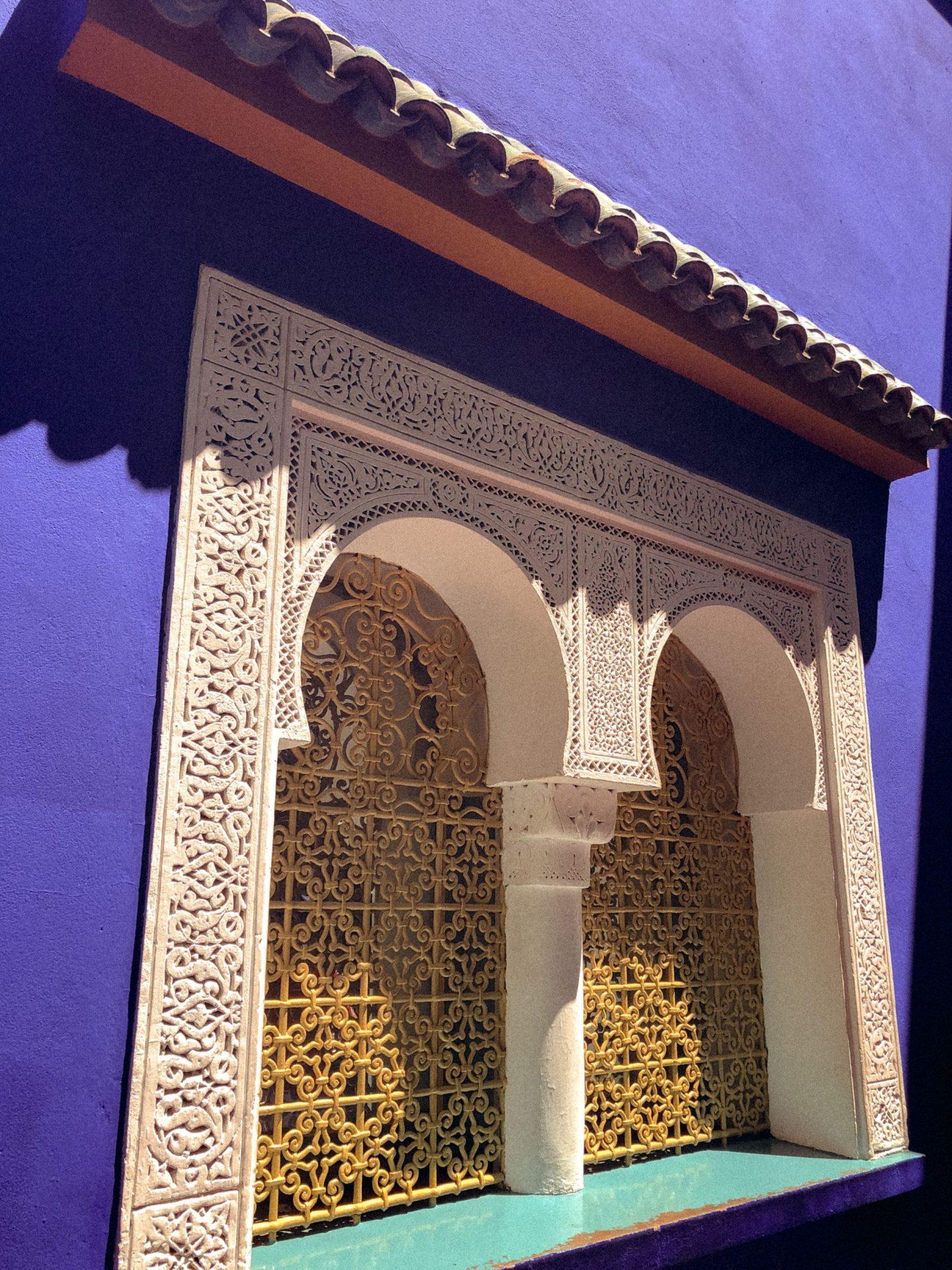 Blue wall at Le Jardin Majorelle, Marrakesh, Morocco