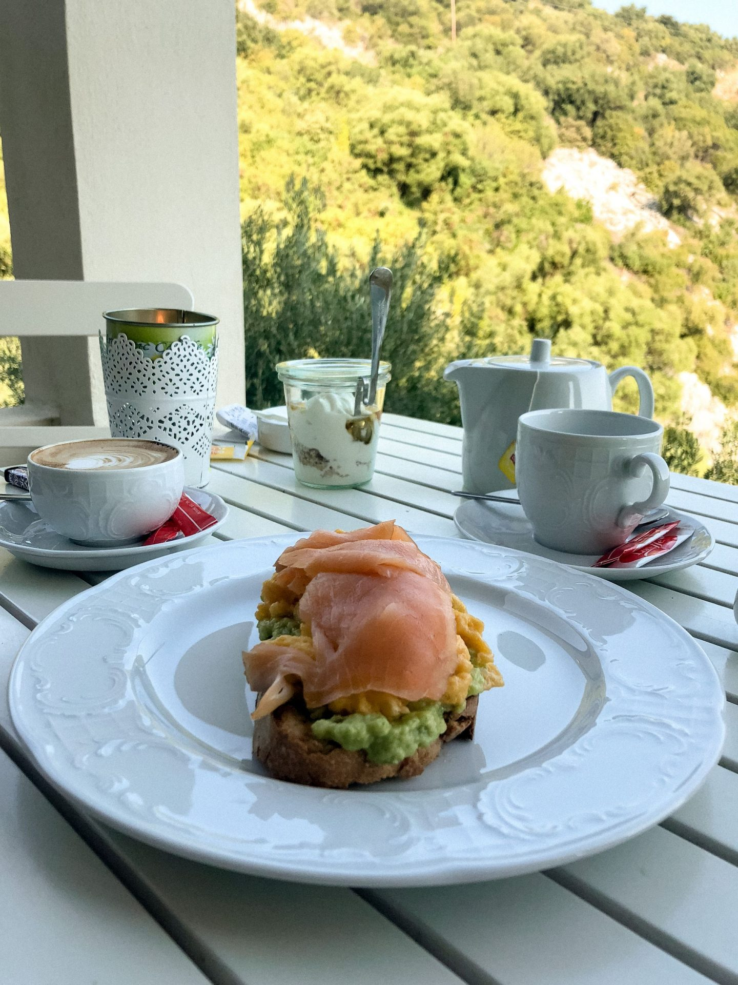 toast for breakfast at villa petros, corfu