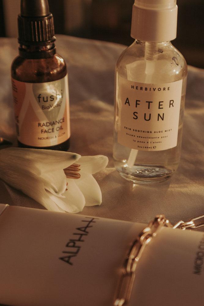 Herbivore Aftersun mist & Fushi BioVedic Radiance Face oil